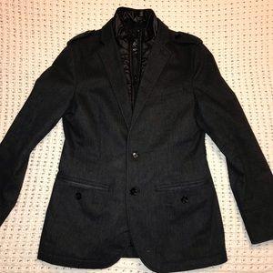 Men's Express Coat Blazer Button Down with Zipper